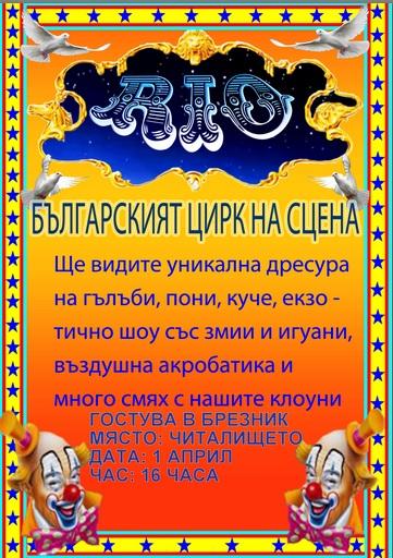 "ЦИРК ""РИО"" ГОСТУВА В БРЕЗНИК"