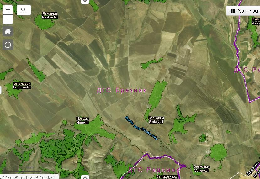 Nova Interaktivna Karta Pokazva Satelitni Snimki I Cyalata Baza